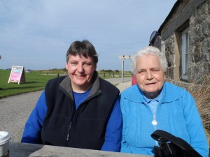 My sister Margaret and my Mum (who was complaining I was taking too long taking the photo!)